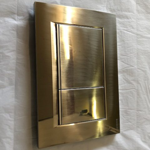 Brush Gold Flush Plate